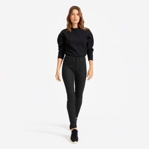 Everlane High Rise Skinny Jeans 24 Ankle BlackNWT